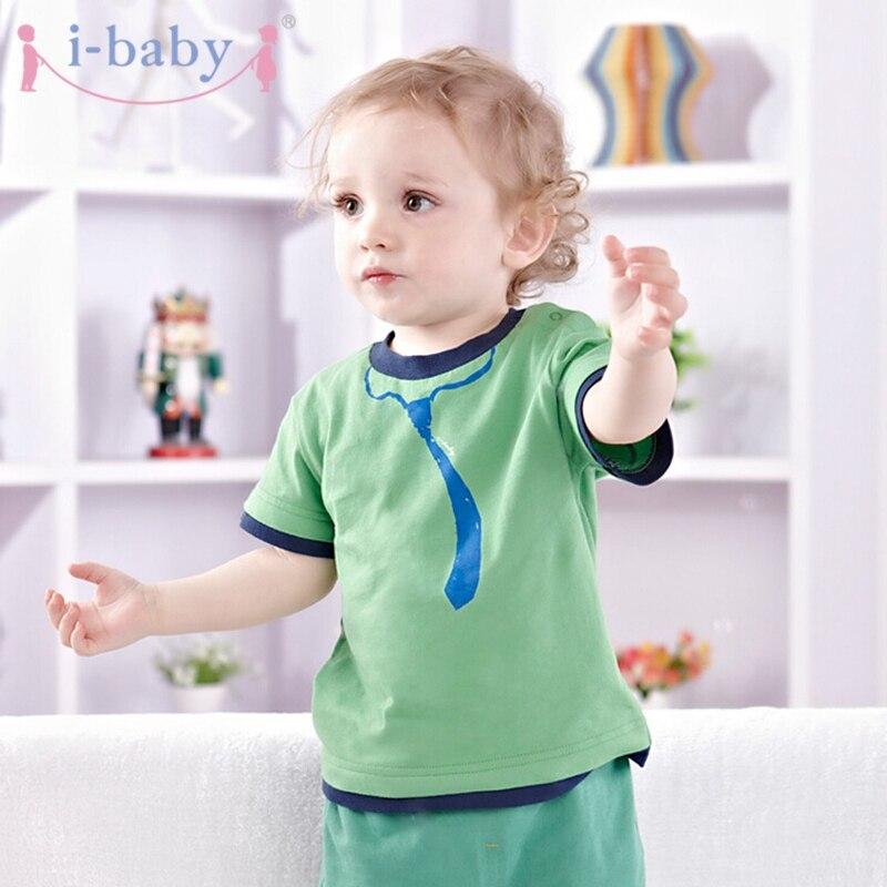 i-baby Babykleding Pasgeboren baby T-shirt Jongen Meisje Puur katoen - Babykleding
