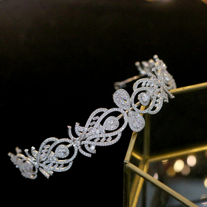 Image 5 - Bandeau daccessoires de cheveux de mariage de couronne de mariée de mode européenne de luxe avec bande de cheveux de bijoux féminins de zircone
