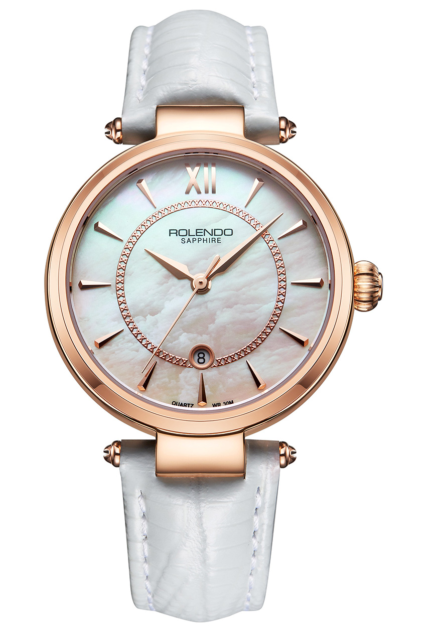 Rolendo 2018 Women Fashion Watches Luxury Brand Quartz Ladies Watch Steel While Leather Womens Wristwatch Relogio Feminino Clock dress clock female luxury brand ladies watch diamond analog leather band quartz wristwatch womens relogio feminino drop shipping