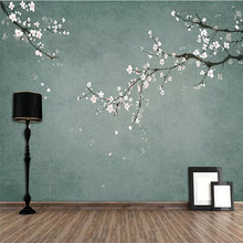 3d creative wallpaper hand-painted flowers and birds figure TV background wall professional custom mural