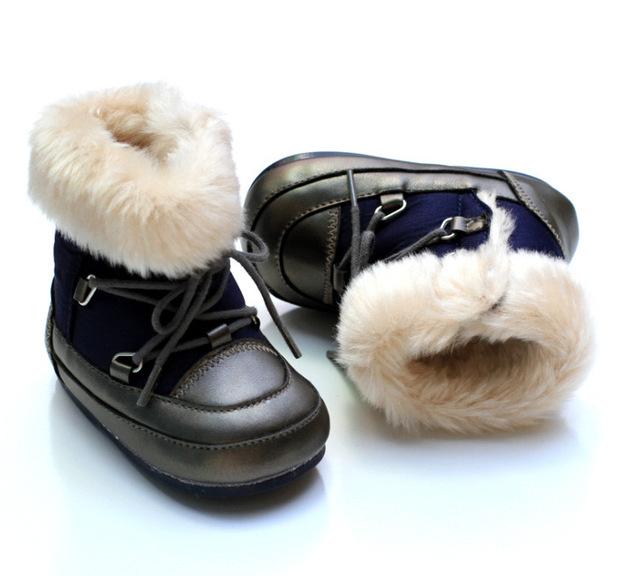 2017 nuevo invierno bebé botas impermeables de goma al aire libre polar inferior bebés toddler shoes unisex boots8986b