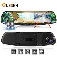 Dash Cam Mirror Dash Camera Dual Cameras Lens Car Dvr With Two Cameras Rearview Dashcam Full