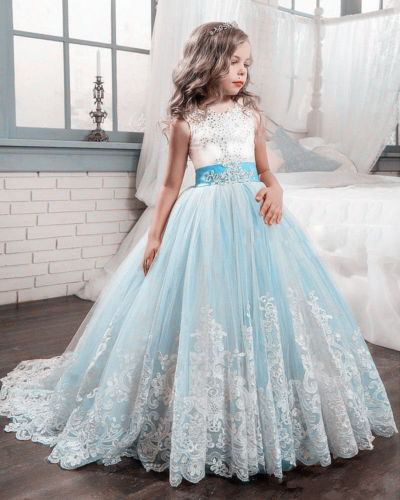 цены New Flower Girl Dress Party Prom Princess Pageant Communion Bridesmaid Wedding girl party dress