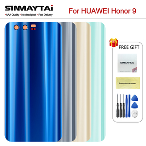 5.15 Inch 100% New For Huawei honor 9 Back Battery Cover Housing Case For Huawei honor9 honor 9 Door Rear Glass Battery Cover