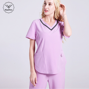 Latest design elasticity Meidcal Scrub Sets Hospital Surgical Clothing Doctor Nurse Isolation Uniforms Lab nursing uniform scrub