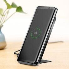 Baseus Qi Беспроводной зарядное устройство для быстрой зарядки для iPhone X samsung Galaxy S9 зарядное устройство для мобильного телефона, держатель для телефона, подставка