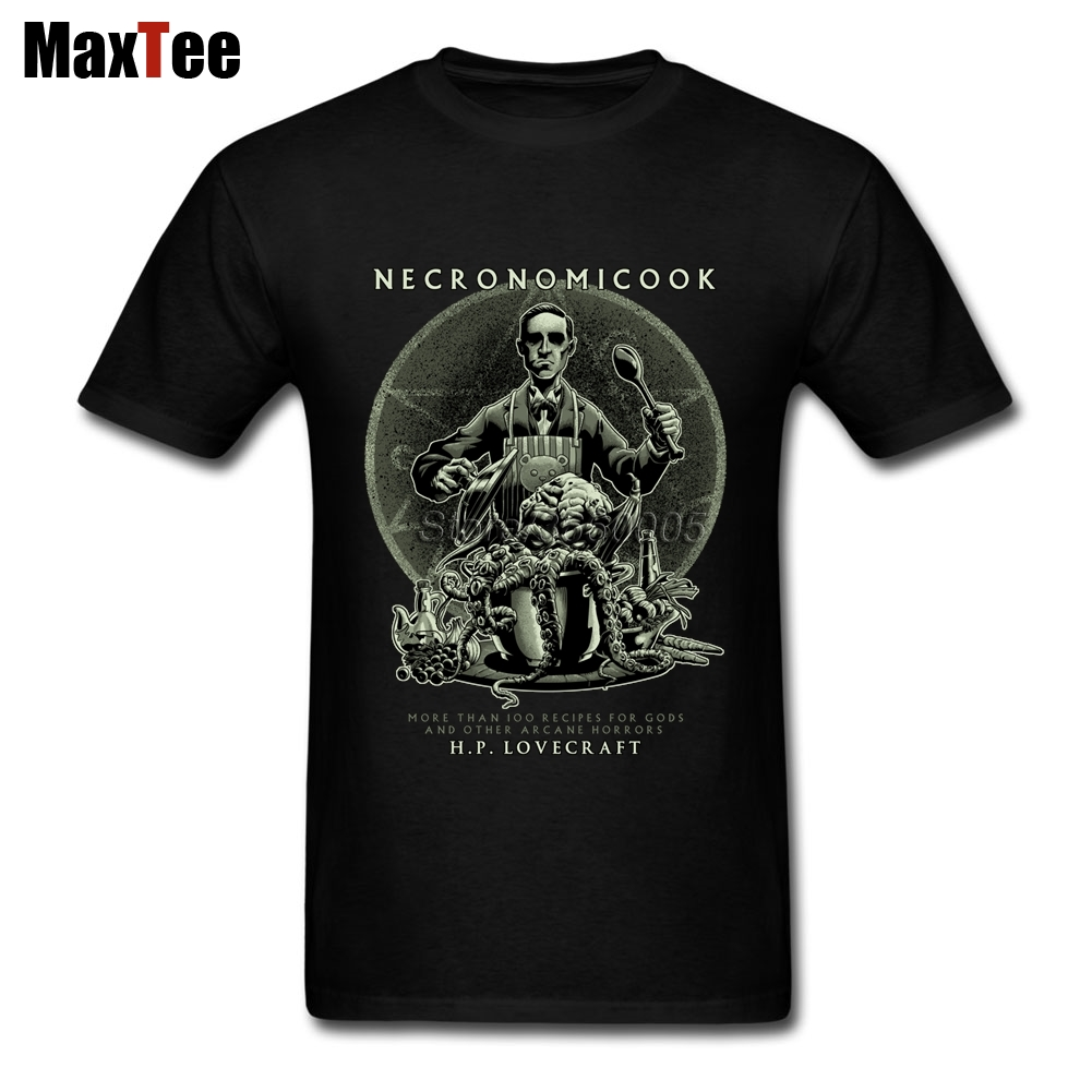 Cooking Cthulhu Tees Shirt Mens Retro Style T-Shirts O Neck Cheap Branded Tee Shirt Valentines Day