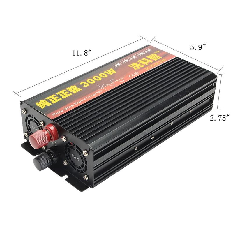 Inverter 12V 220V 2000/3000/4000W Voltage transformer Pure Sine Wave Power Inverter DC12V to AC 220V Converter + 2 LED Display 22