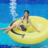 180cm inflatable smiling face emoji Emoticon package float pool swimming circle Air Mattress toys for child adult beach party
