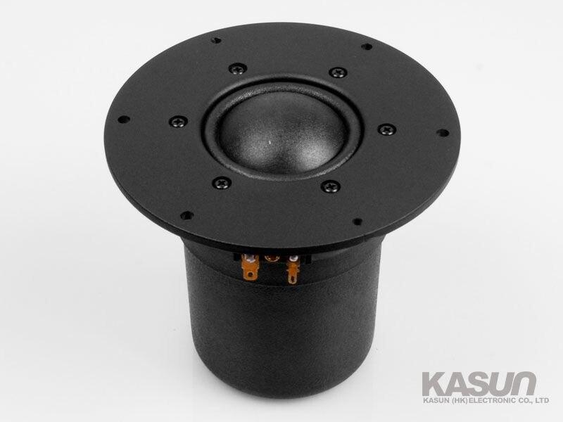 Kasun 2шт МТД-350 5,5-дюймовый тканевый купол сч-ВЧ-динамик/ВЧ-динамик водитель подразделения алюминиевая панель 80ВТ 8 Ом 100Гц-10кгц D145mm