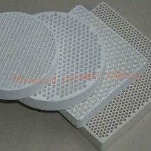 Круглая сотовая керамическая доска D60* 10 мм/Сотовая керамическая плита/высокотемпературная Керамическая доска