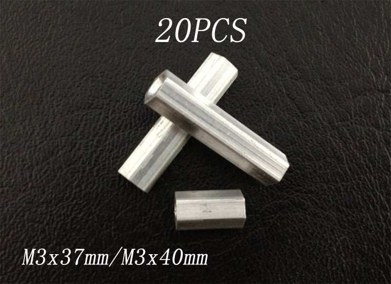 20PCS M3x37mm <font><b>M3x40mm</b></font> Aluminum Hexagonal Column Pillar Support Strut Spare Parts for RC Micro Drone Quadcopter Gimbal Camera image