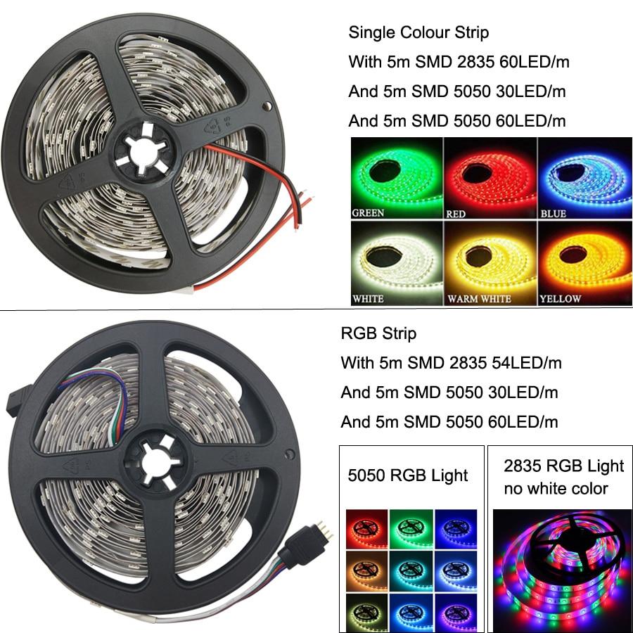Led Strip Light RGB 2835 DC12V 5M 10M 15M 20M Vattentät flexibelt - LED-belysning - Foto 2