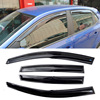 4pcs Windows Vent Visors Rain Guard Dark Sun Shield Deflectors For VW Polo 2011 2014