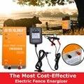 Солнечная электрическая изгородь зарядное устройство XSD-270A высокого напряжения импульсный контроллер животное птицефабрика электрическо...