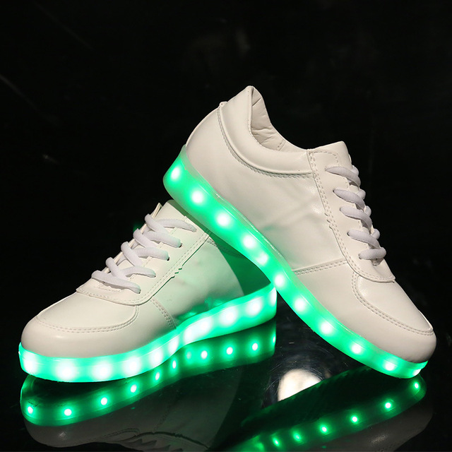 Mode 7 Couleur LED Chaussure Homme Femme Couple... 0rYtnF