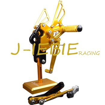 CNC Racing Rearset Adjustable Rear Sets Foot pegs Fit For Yamaha FZ09 MT09 2014 2015 2016 GOLD