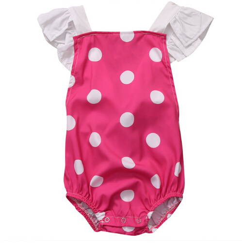 Cute Newborn Infant Baby Girls Romper Floral Polka Dot Romper Jumpsuit Clothes Outfits