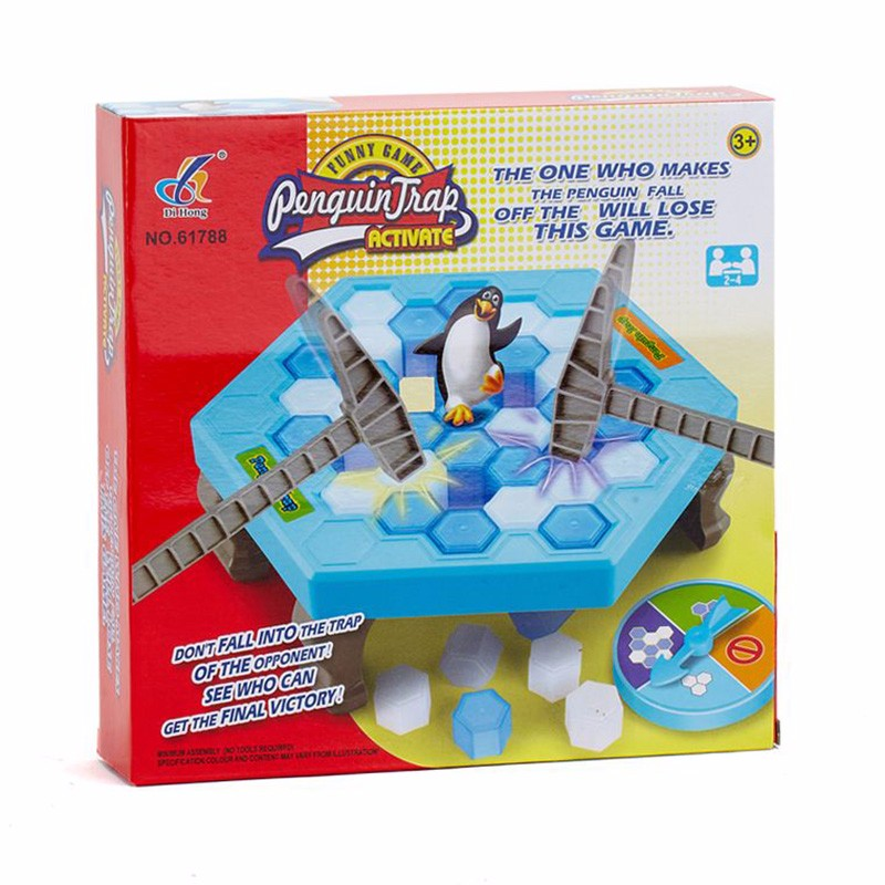 Ice Breaking Save The Penguin Great Family Fun Game - The One Who Make The Penguin Fall Off , The Will Lose This Game #E