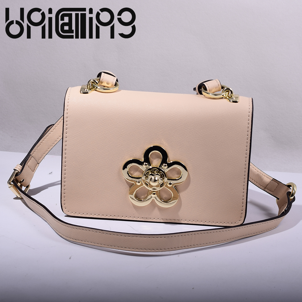 New style Fashion split leather Plum blossom latch shoulder crossbody bag Top grade All-match solid color luxury brand women bag new style messenger bag men leather top grade all match hasp fashion retro cow leather men bag solid color small shoulder bags