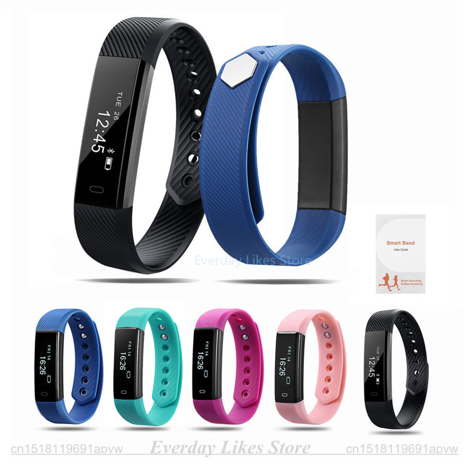 Original ID115 Smart Bracelet Fitness Tracker Watch Alarm Clock Step Counter Smart Wristband Band Sport Sleep