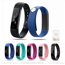 Оригинальный ID115 умный Браслет фитнес-трекер часы будильник счетчик шагов умный Браслет Группа Спорт Sleep Monitor SmartBand