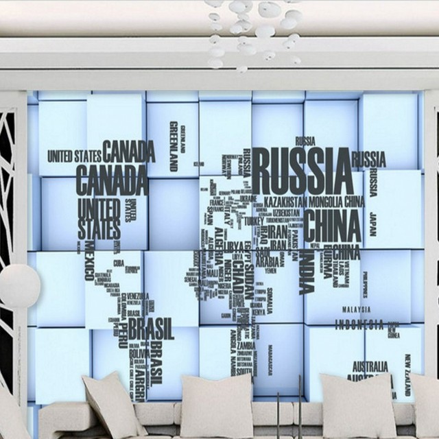 Free shipping english alphabet world map 3d stereo custom free shipping english alphabet world map 3d stereo custom wallpaper mural living room backdrop decoration gumiabroncs Image collections