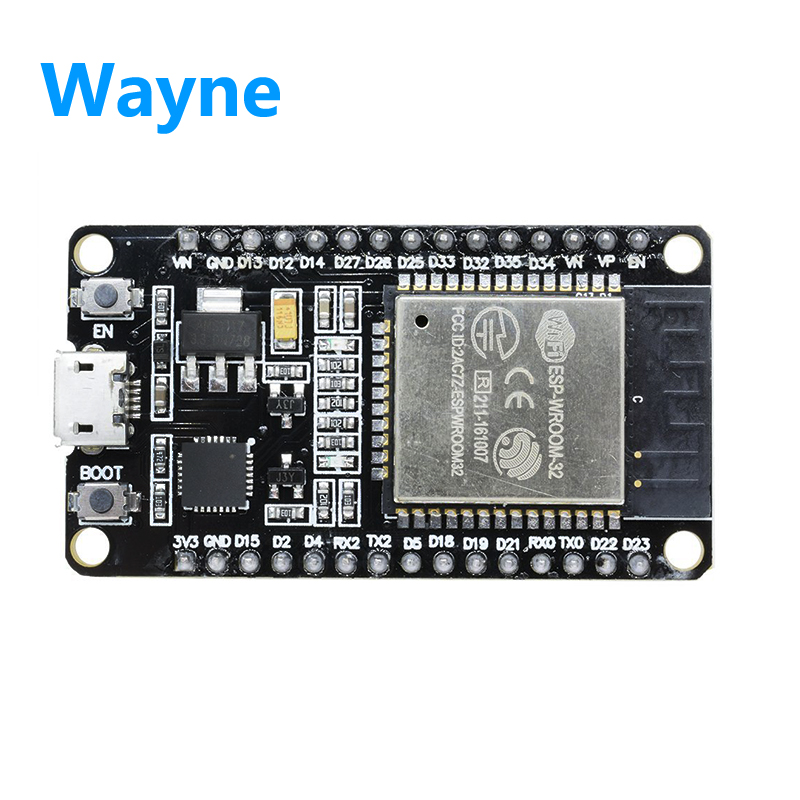 Free shipping ESP32 development board WiFi+ bluetooth ultra-low power consumption dual core sp-32 sp-32s ESP32 similar to ESP826 energy recovery clocking scheme to achieve ultra low power