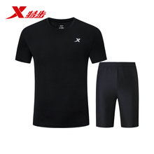 881229959305 Xtep 2019 Summer Sports Set Mens Running suit Sportswear Breathable short and t shirt