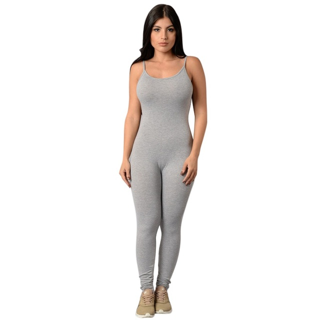 bede1b32a0ae Female Bodysuit Sexy Tight Bodysuit Women Jumpsuit Inside One Piece Of  Trousers Solid Long Slimming Womens jumpsuit