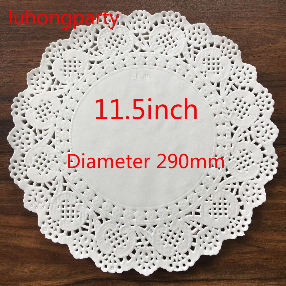 PD025 50Pcs Free shipping 11.5 Vintage napkin Hollowed Lace Paper mat Crafts DIY Scrapbooking/Card Making/Wedding Decoration