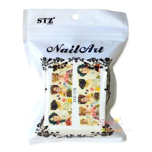 100 Mixed Qt Nail Flowers sheets Cartoon Stickers