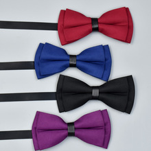 Popular Bow Ties Polyester Soild Neckwear Bowtie for Men Suit Tie Mens Wedding Party Fashion Accessories