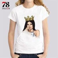 Kyliejenner Female Tshirt Women Loose White T Shirt Short Sleeve O Neck Regular Tees Ladies Kylie