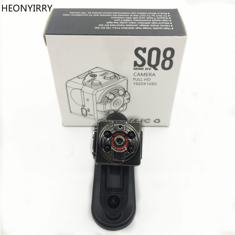 SQ8 Mini Car DVR Camera HD 1080P Camera Night Vision Mini Motion Detection Camcorder Class 10 Video Recorder Micro Car Camera
