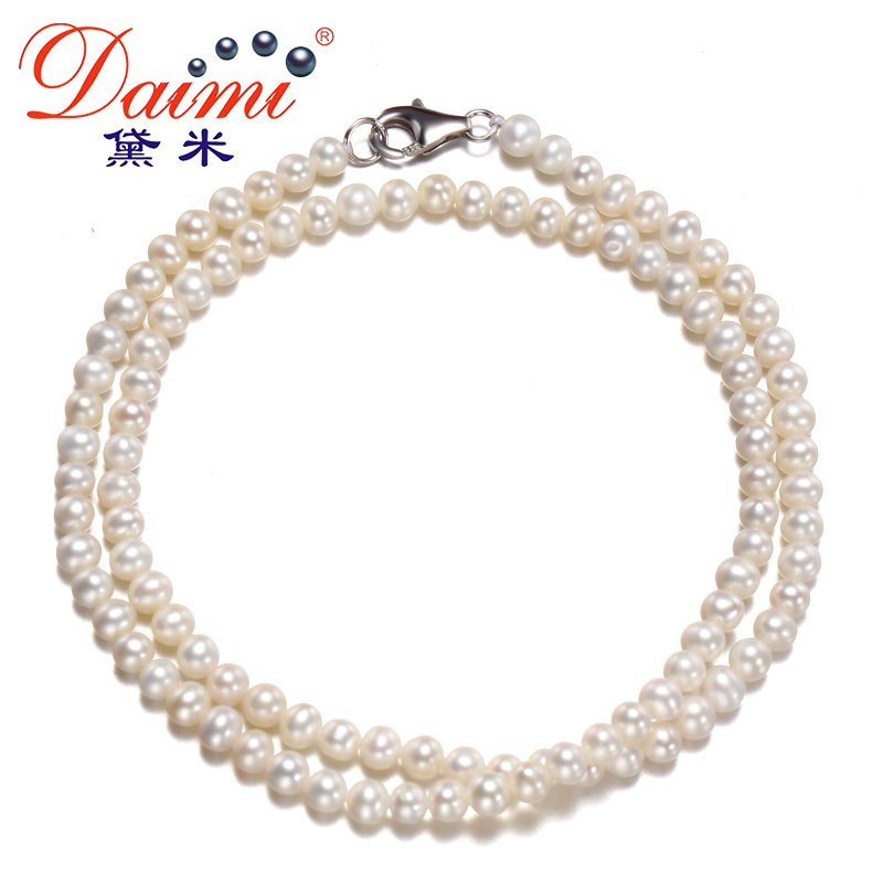 [DAIMI] White/Pink/Purple Colorful Real Pearl Necklace Simple Jewelry Nice Gift For Girl CHA-CHA king tea 2012 lao man e golden bud small tuo cha 60g china yunnan menghai chinese puer puerh ripe tea cooked shou cha premium