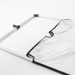 Image 2 - 60x90cm Aluminum AlloySun Scrim Frame Large 5in1 Black Silver Gold White Diffuser Reflector for Professional Photography Studio