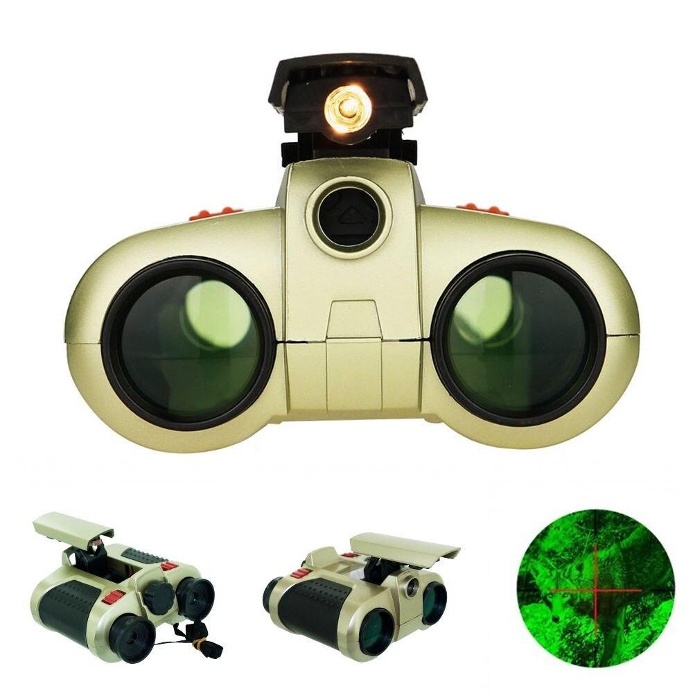 4x30mm Binocular Telescope -up Light Night Vision Scope Binoculars Novelty Focusing Night Vision Telescope Viewer Hunting