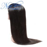 Бразильский прямые Glueless Кружева Фронтальная парик 130% Плотность Девы человеческих волос предварительно сорвал волосяного покрова new star 13x4 с