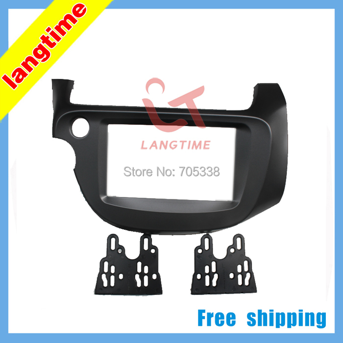 Discount Free shipping-car refitting dvd frame audio frame cd panel for 2008 Honda Fit Jazz ( Left driver)08-13, 2DIN 0