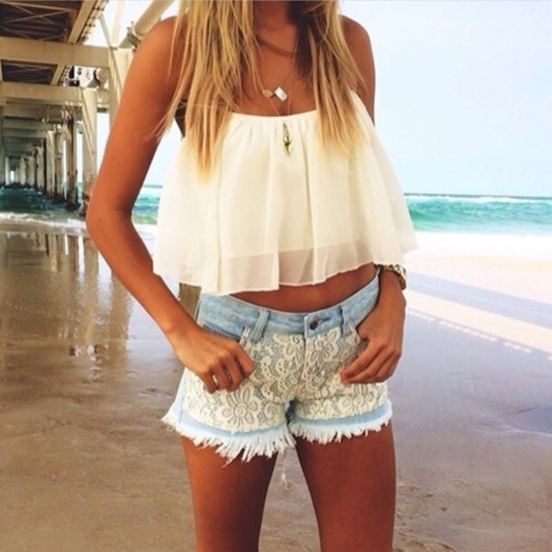 2019 New Arrival Spring/Summer Woman's crop top Backless Women chiffon blouse Tanks vest p