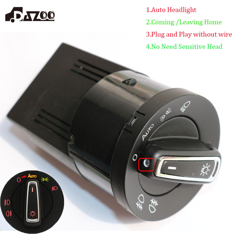 DAZOO Mise À Niveau Nouvelle AUTO Phare Interrupteur De La Lampe avec Capteur de Lumière Module Pour V W De Golf J etta MK4 Passat B5 polo Bora Bettle Fabia