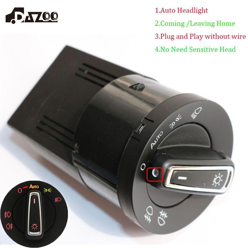 цена на DAZOO Upgrade New AUTO Headlight Lamp Switch with Light Sensor Module For V W Golf J etta MK4 Passat B5 Polo Bora Bettle Fabia