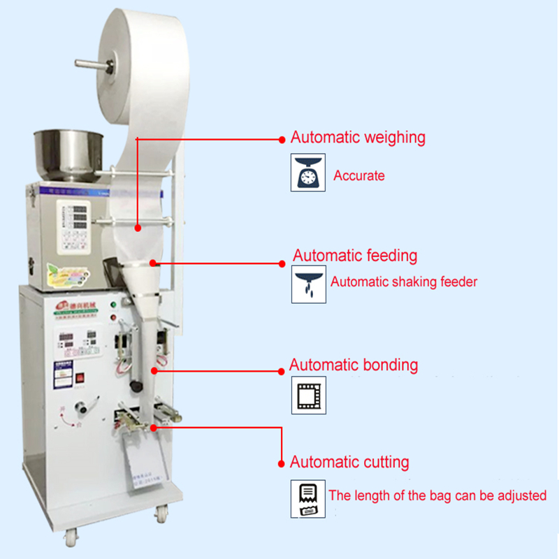 New 2-100g Food Weighing Racking Machine Granular And Powder Medicinal Fully Automatic Filling Machine High-quality Accurate lowest factory price food racking machine granular powder medicinal food weighing filling machine seed salt filler 25g