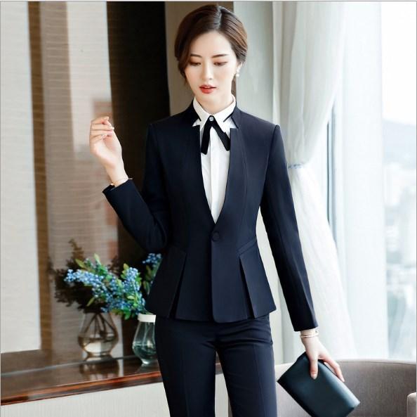 Bureau Formelle Femmes Costumes Suit Femme Tenues De skirt Suit Pantalon Suit Taille Pièces Pour Femelle Ensemble 2 Pantalons pant Dames Grande Skirt Blazer AIq7xd