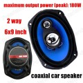 2 pcs 2x180W 2 way 6X9 inch Car Coaxial Speakers Car Audio stereo speaker for all cars