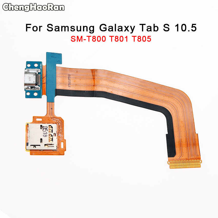 Chenghaoran para samsung galaxy tab s 10.5 SM-T800 t801 t805 titular do cartão sim porta de carregamento usb display lcd conector cabo flexível