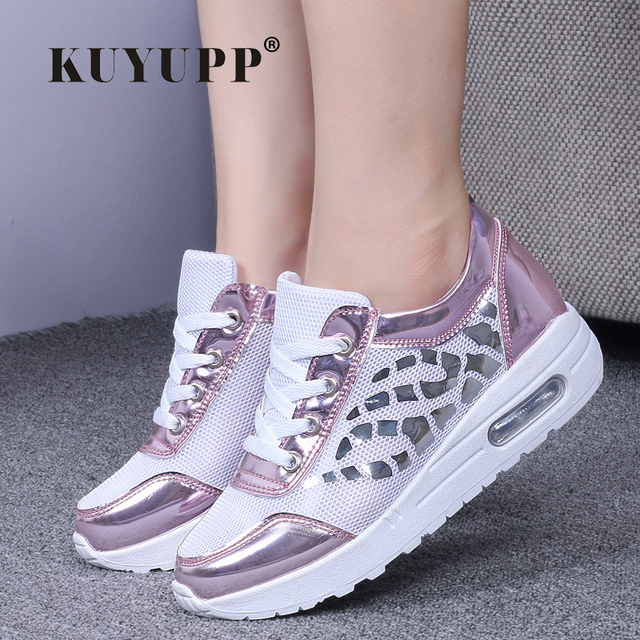 Trainers Women Casual Shoes Summer Style Outdoor Breathable Low Top Shoes Woman Flat Heels Sport Ladies Shoes Size 35-40 ZD71
