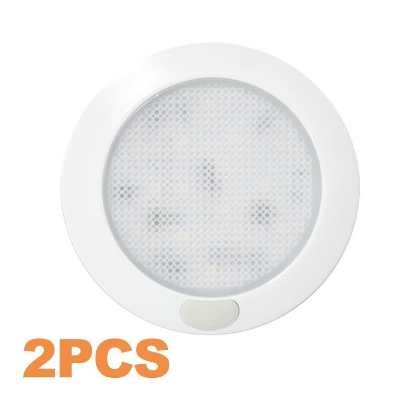 2X 3inch Bedroom Light Ultra Slim LED Lamp LED Dome Light Motorhome/RV Lamp Roof/Caravan