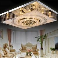 Простые современные кристалл потолочный светильник комнате свет прямоугольный кристалл лампы светодиодный потолочный светильник освещен